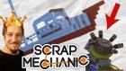 Renk Tabancasıyla Balıkçı Teknesi Yaptık | Scrap Mechanic Türkçe Multiplayer | Bölüm 12