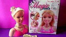 Magic Hair Saç Tasarım Oyuncağı-Sihirli Saçlar Saç Tasarım Büstü-Kuaför Seti