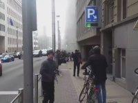 Brüksel'de Metrodaki Patlama Amatör Kamerada