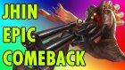 Jhin 1v5 against team with Baron (4 hp Nexus comeback)