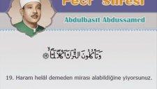 Abdulbasit Abdussamed - Fecr Suresi ve Meali