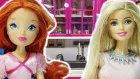 Barbie izle | Winx Bloom ve Shopkins Cicibiciler Barbie ile Yemekte | EvcilikTV