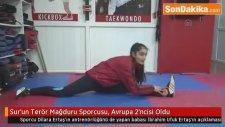 Diyarbakır'ın Sur ilçesinde Terör Mağduru Sporcusu, Avrupa 2'ncisi Oldu