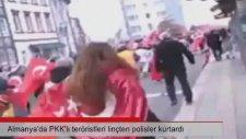 Almanya'da PKK'lı Teröristleri Linçten Polisler Kurtardı