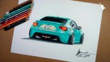 Toyota GT86 Çizimi | Realistic Car Drawing