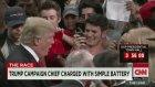 Trump'ın Yardımcısı Kadın Gazeteci Corey Lewandowski'yi Darp Etti