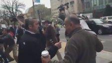 Erdoğan'ın Korumalarının Eylemciyi Tartakladığı An