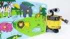 Küçük Robot Wall-E - Bir Yapboz Yapalım - Vahşi Hayvanlar - Eğitici Çocuk Filmi - Mutlu Cocuk