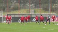 Münih'li Futbolcular İdmanda  Çıldırdı!