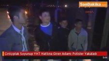 Eskişehir'de Soyunup YHT Hattına Giren Adamı Polisler Yakaladı