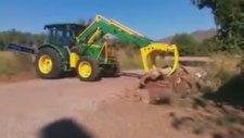 John Deere Traktor Kepçe Tomruk On Yukleyici.