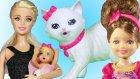 Barbie ve Ailesi Eve Kedi Giriyor | Barbie Oyunu | Evcilik TV