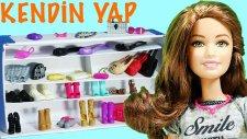 Barbie Oyuncak Bebekler İçin Ayakkabılık Dolabı Yapımı | Barbie İzle | Evciliktv