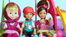Barbie ve Ailesi Maşa ve Çocuklar Parka Gidiyor | Maşa ile Ayı | Evcilik TV