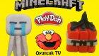 Minecraft Ghast ve TNT Play Doh Oyun Hamuru ile Yapımı