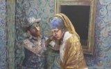 Vücut Boyama ile Van Gogh ve İnci Kupeli Kız Canlandırmaları