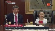 23 Nisan'da Başbakanlık Koltuğuna Çocuk Oturdu. Basının Sorularını Almak İstemedi (23 Nisan 2016)