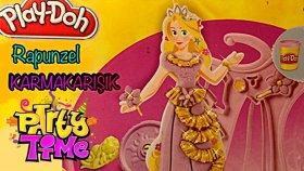 Play Doh Rapunzel Oyuncağı-Oyun Hamuru İle Elbise Tasarımı