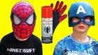 Örümcek Adam Ağ Fırlatan Oyuncak Eldiven - Captain America Vs Spiderman