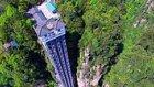 Binmesi Cesaret İsteyen Çin'deki 325 Metre Yüksekliğindeki Cam Asansör
