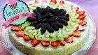 Meyveli Tart Kek / Kolay Meyveli Yaşpasta / Ayşenur Altan Yemek Tarifleri