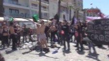 İzmir'de 1 Mayıs Protestosu: Soyundular
