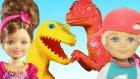 Barbie ve Ailesi Dinazor Parkında | Barbie Bebek | Evcilik TV