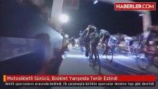 Motosikletli Sürücü, Bisiklet Yarışında Terör Estirdi