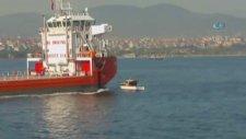 Dev Gemi Balıkçı Teknesine Böyle Çarptı