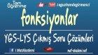 Fonksiyonlar YGS-LYS Çıkmış Soru Çözümleri