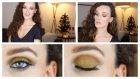Hafif Simli Ve Hardal Renkli Yeni Yıl Makyajı | Glitter Makeup