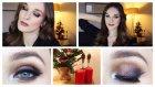 Mürdüm Ve Simli Yeni Yıl Makyajı | Glitter Christmas Makeup *h&m Ürünleriyle