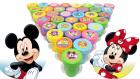 Mickey Mouse Donald Duck ve arkadaşlarının kaşeleri ile renkleri öğreniyoruz Miki Fare
