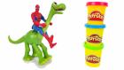 Spiderman ve İyi bir dinozor Animasyon Filmi Örümcek Adam Mutfakta Meyve ve Sezbe Kesiyor
