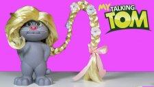 Talking Tom ve Talking Angela | Rapunzel | Frozen Karlar ülkesi Kraliçe Elsa | EvcilikTV