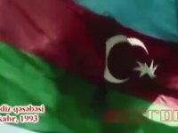 Ermeni Bayrağının İndirilip Azerbaycan Bayrağının Göndere Çekilmesi (1993)