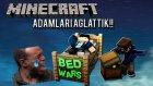 KIZI AĞLATTIK! - Bed Wars - Minecraft Yatak Savaşları