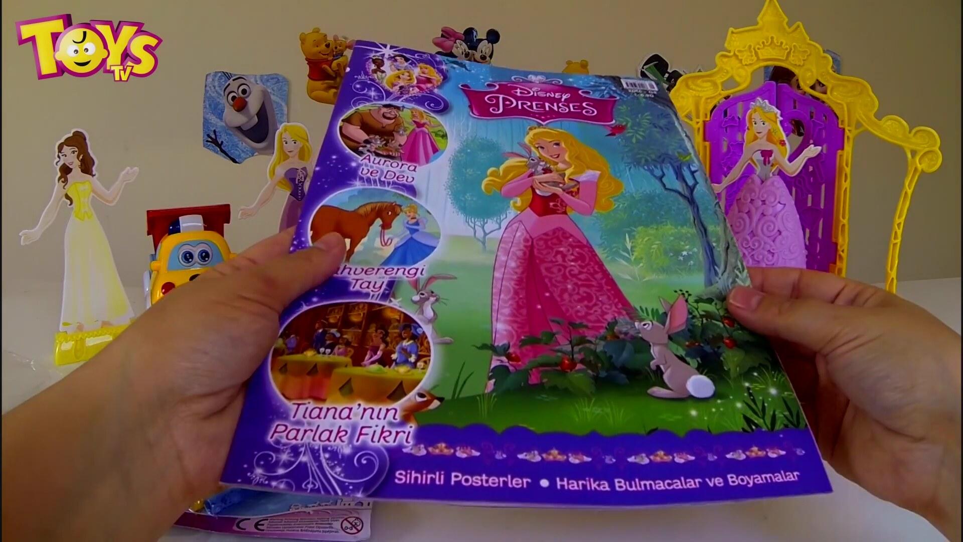 Disney Prenses Dergisi Açıyoruz Sindirella Aurora Ariel Tiana