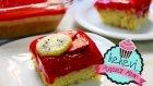 Kivi Kremalı Çilek Soslu Tepsi Pastası / Ayşenur Altan Yemek Tarifleri - Kek Evi