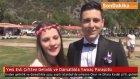 İstanbul'da Yeni Evli Çiftten Gelinlik Ve Damatlıkla Yamaç Paraşütü