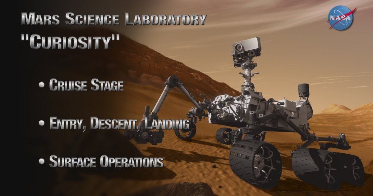 mars curiosity rover landing animation - photo #27