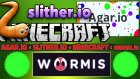 Hunger Games ! - Minecraft + Agar.io + Slither.io = Worm.ıs (Yeni !)