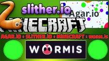 Hunger Games ! - Minecraft + Agar.io + Slither.io = Worm.ıs (Yeni !)