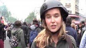 Rus Kadın Muhabir Canlı Yayında Tokat Yedi