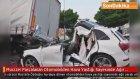 Mucize! Parçalanan Otomobilden Hava Yastığı Sayesinde Ağır Yaralı Kurtuldu