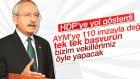 Kemal Kılıçdaroğlu'ndan HDP'nin Destek Çağrısına Cevap