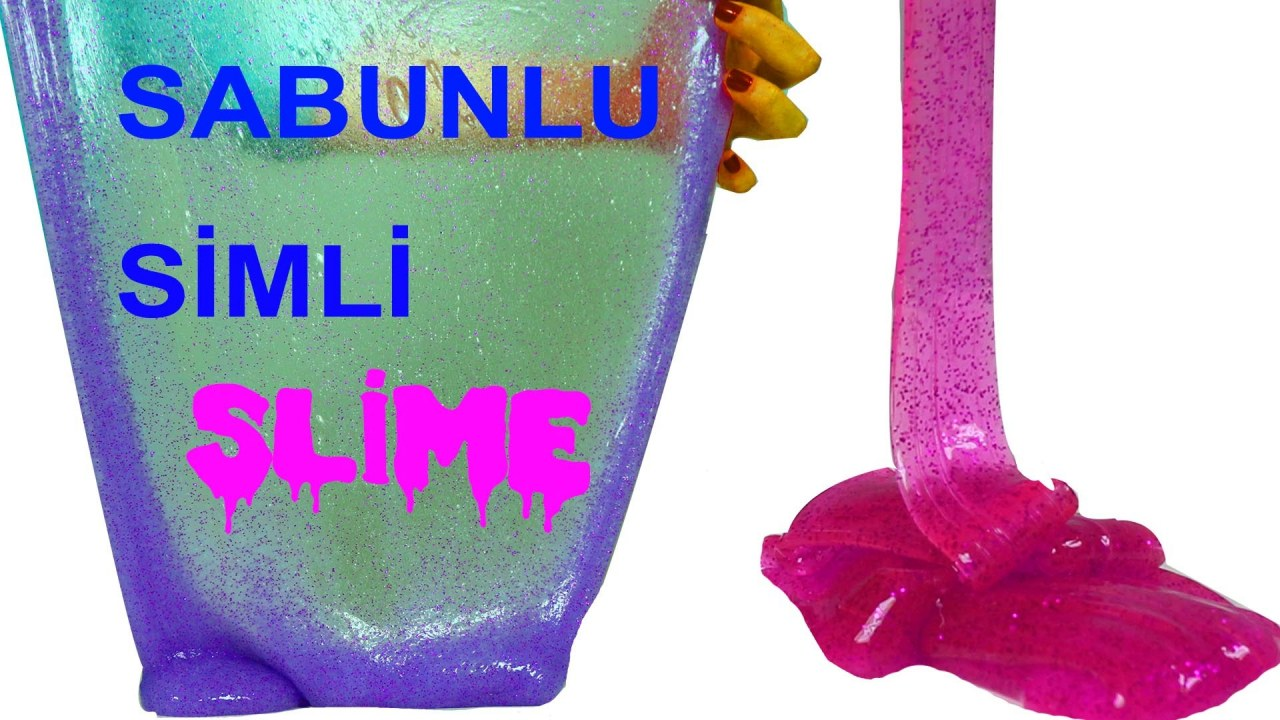 Slime Nasıl Yapılır Sabunlu Simli Slime Yapımı Evciliktv