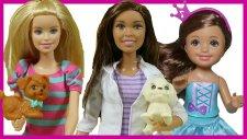 Barbie ve Kızı Hayvan Barınağını Geziyor   Barbie Oyuncak Bebek   EvcilikTV