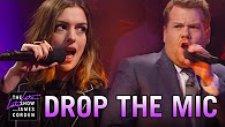 James Corden ve Anne Hathaway'in Rap Kapışması