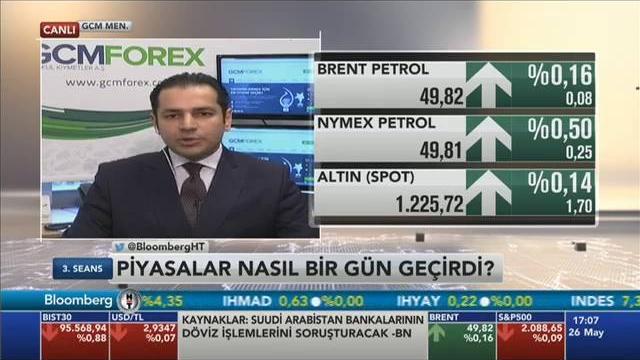 26.05.2016 - Bloomberg HT - 3. Seans - GCM Menkul Kıymetler Araştırma Müdürü Dr. Tuğberk Çitilci
